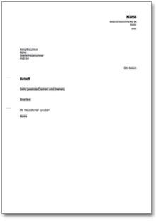 Allgemeiner Musterbrief Dokument zum Download