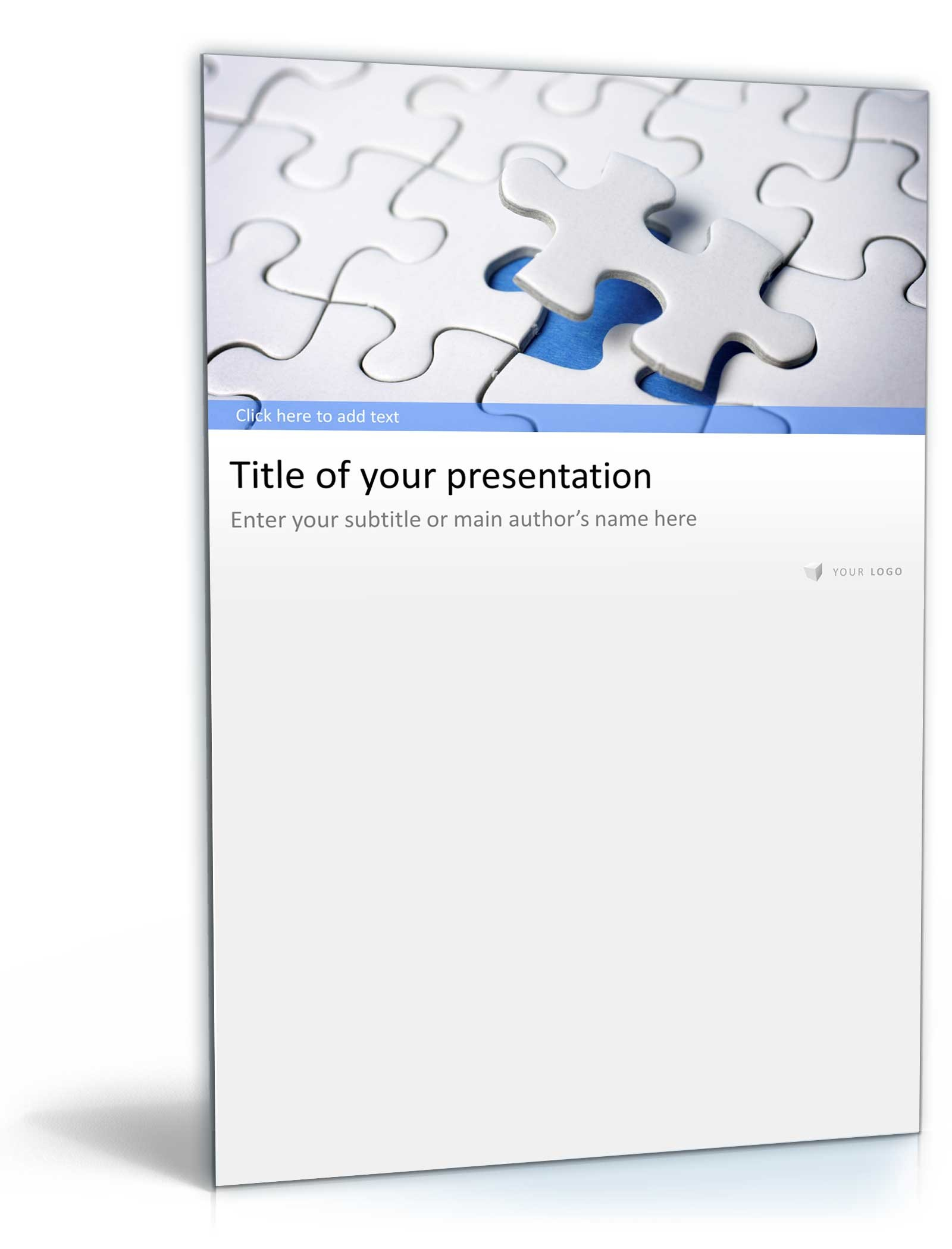 PowerPoint Vorlage Business Präsentation Puzzle Design Dokument zum Download