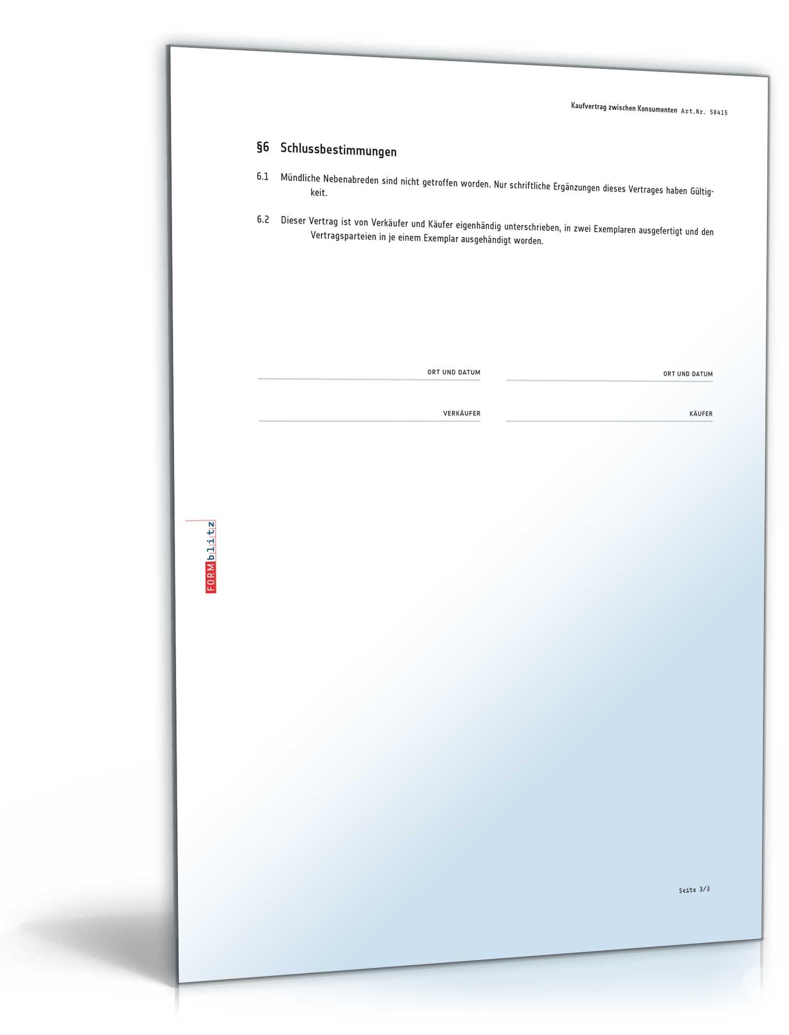 Ziemlich Land Kaufvertrag Vorlage Bilder - Entry Level Resume ...