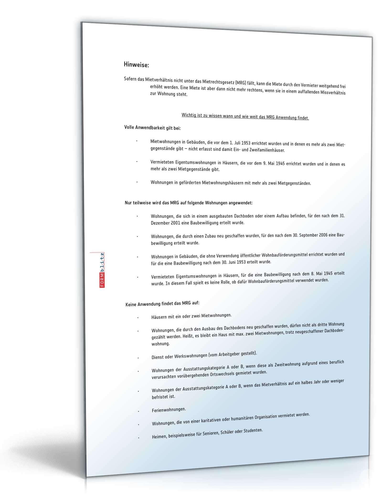 muster brief ankndigung mieterhhung ouml - Mieterhohungsverlangen Muster