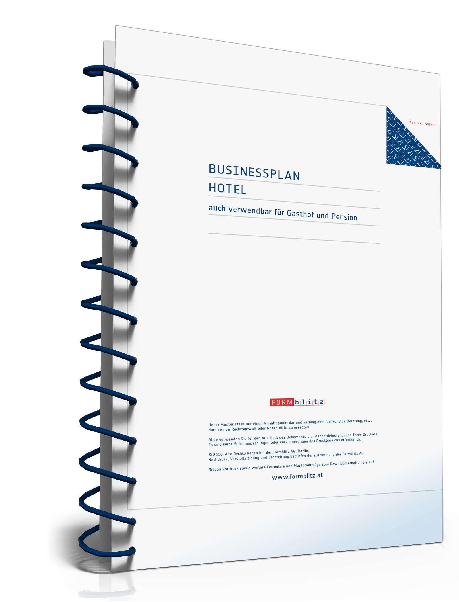 Businessplan für ein Hotel Dokument zum Download