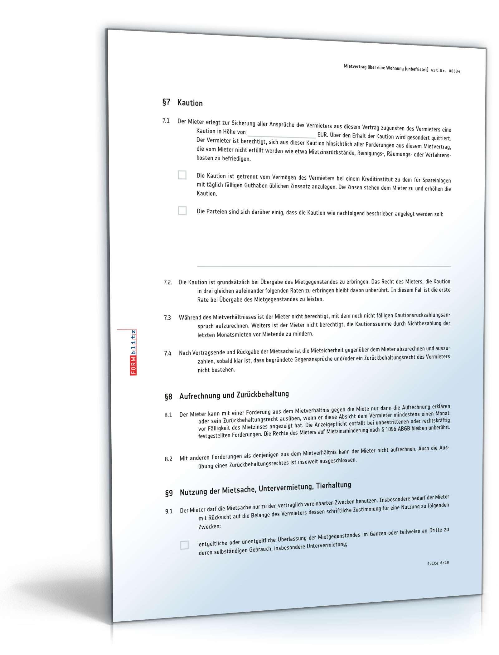 EINHEITSMIETVERTRAG PDF