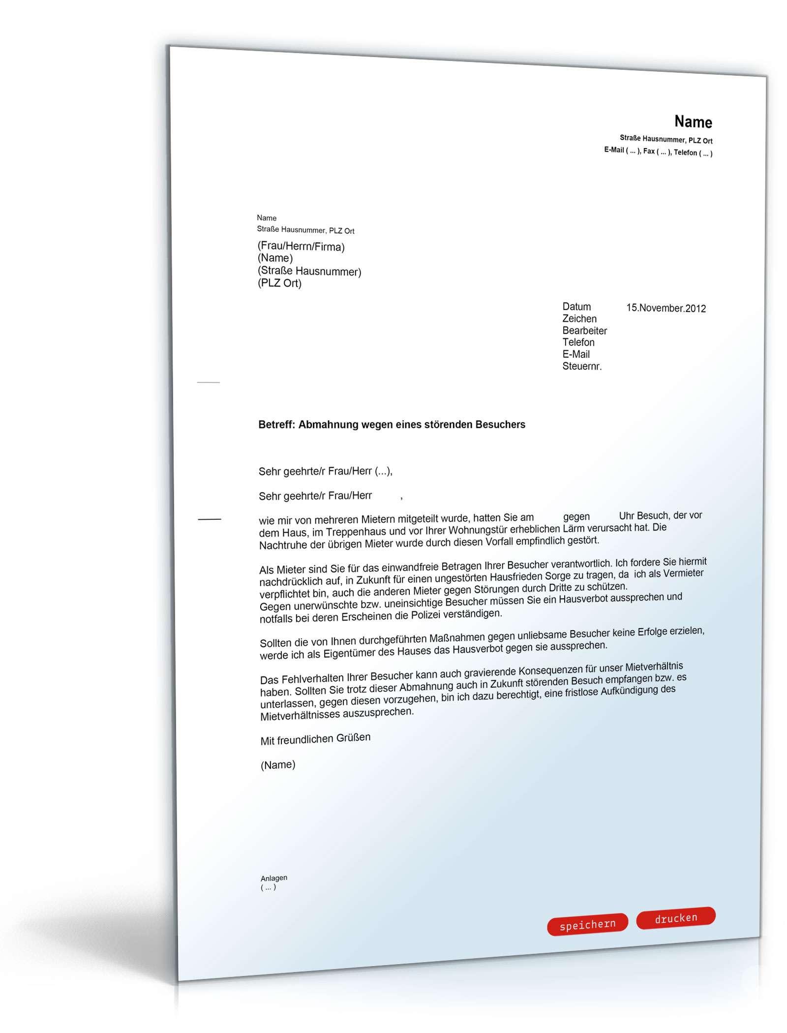 omsembirthkfac: Hausverbot musterbrief