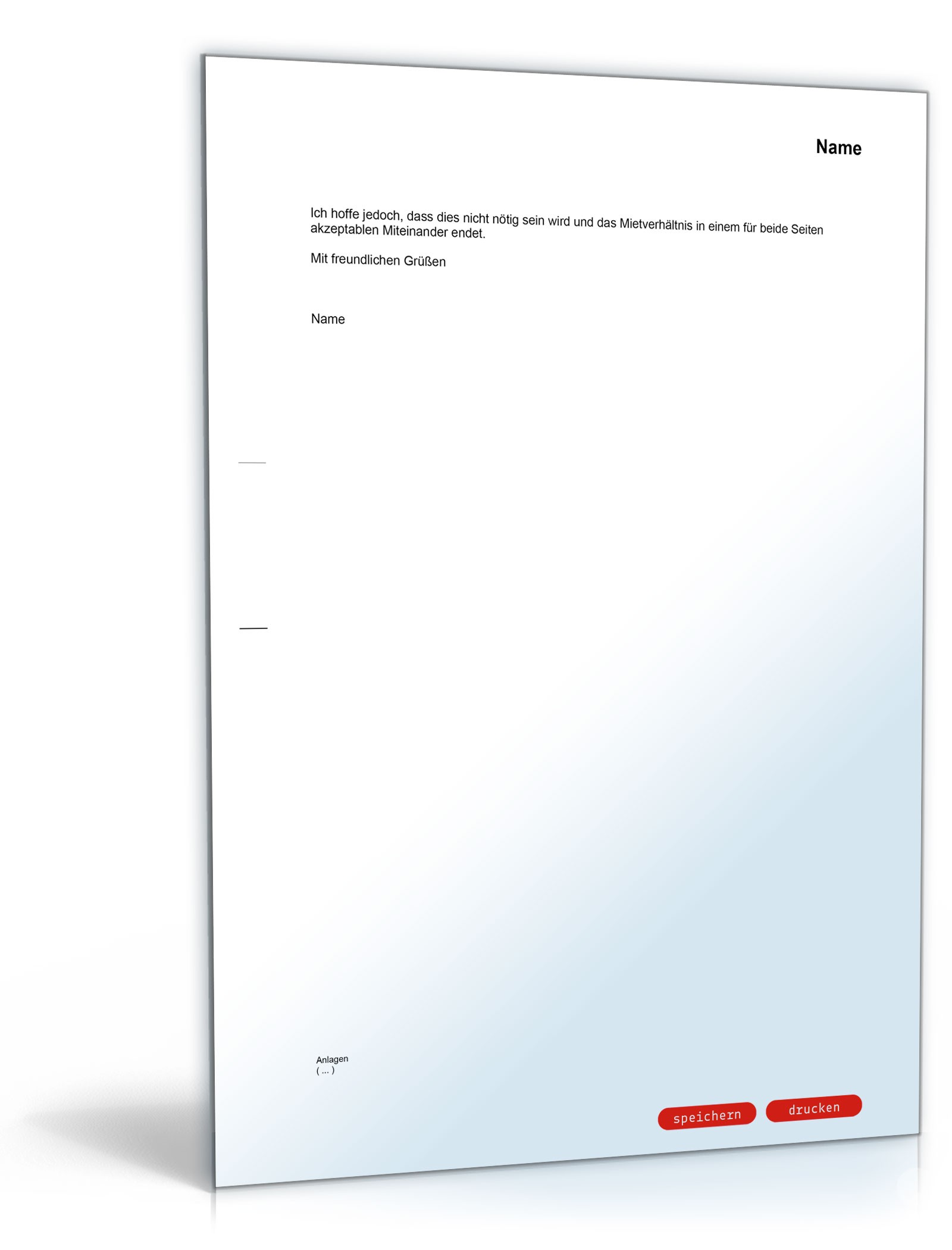 Musterbriefe Kondolenzschreiben : Abmahnung wegen quot abwohnen einer kaution muster vorlage