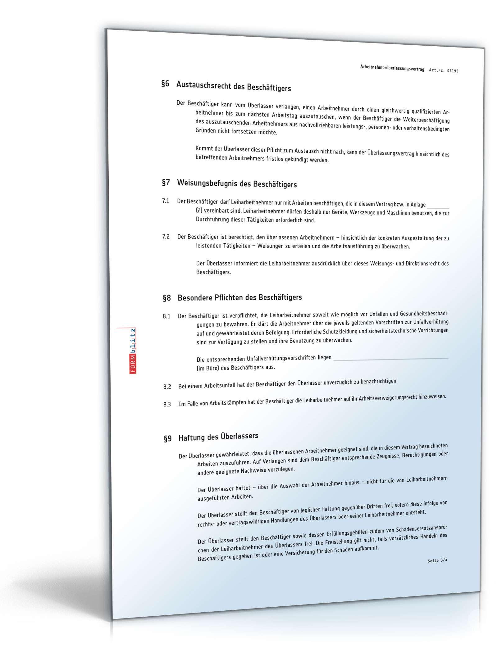 pdf seite 4 - Arbeitnehmeruberlassungsvertrag Muster