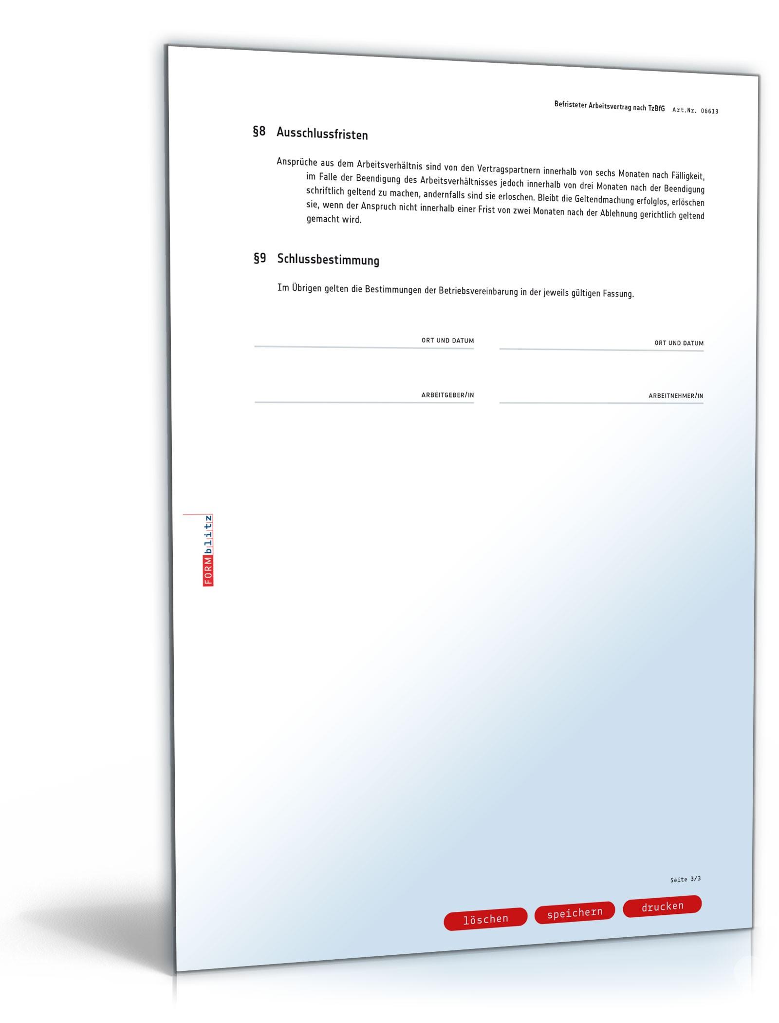 pdf seite 4 - Befristeter Arbeitsvertrag Muster