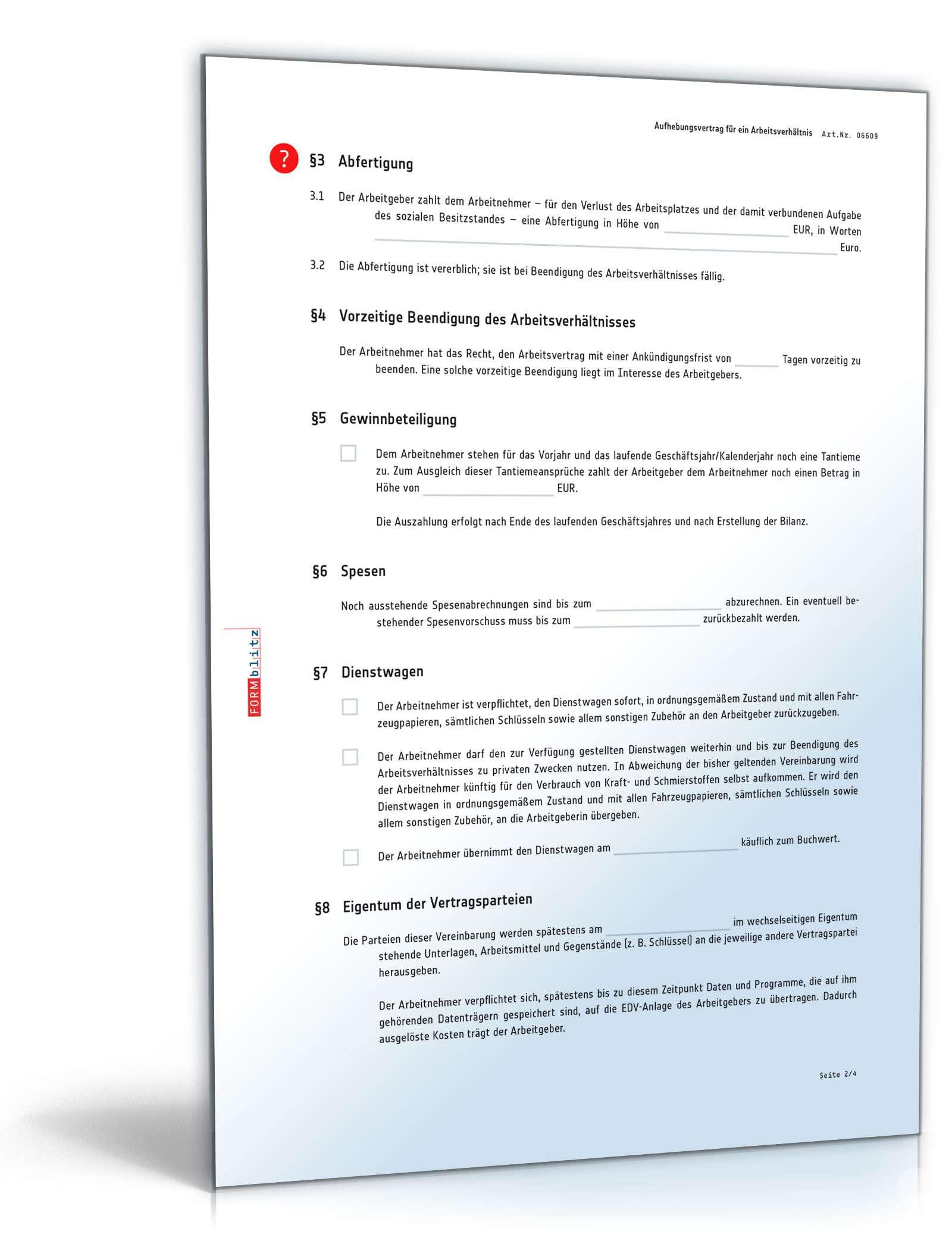 pdf seite 3 - Aufhebungsvertrag Auf Wunsch Des Arbeitnehmers Muster