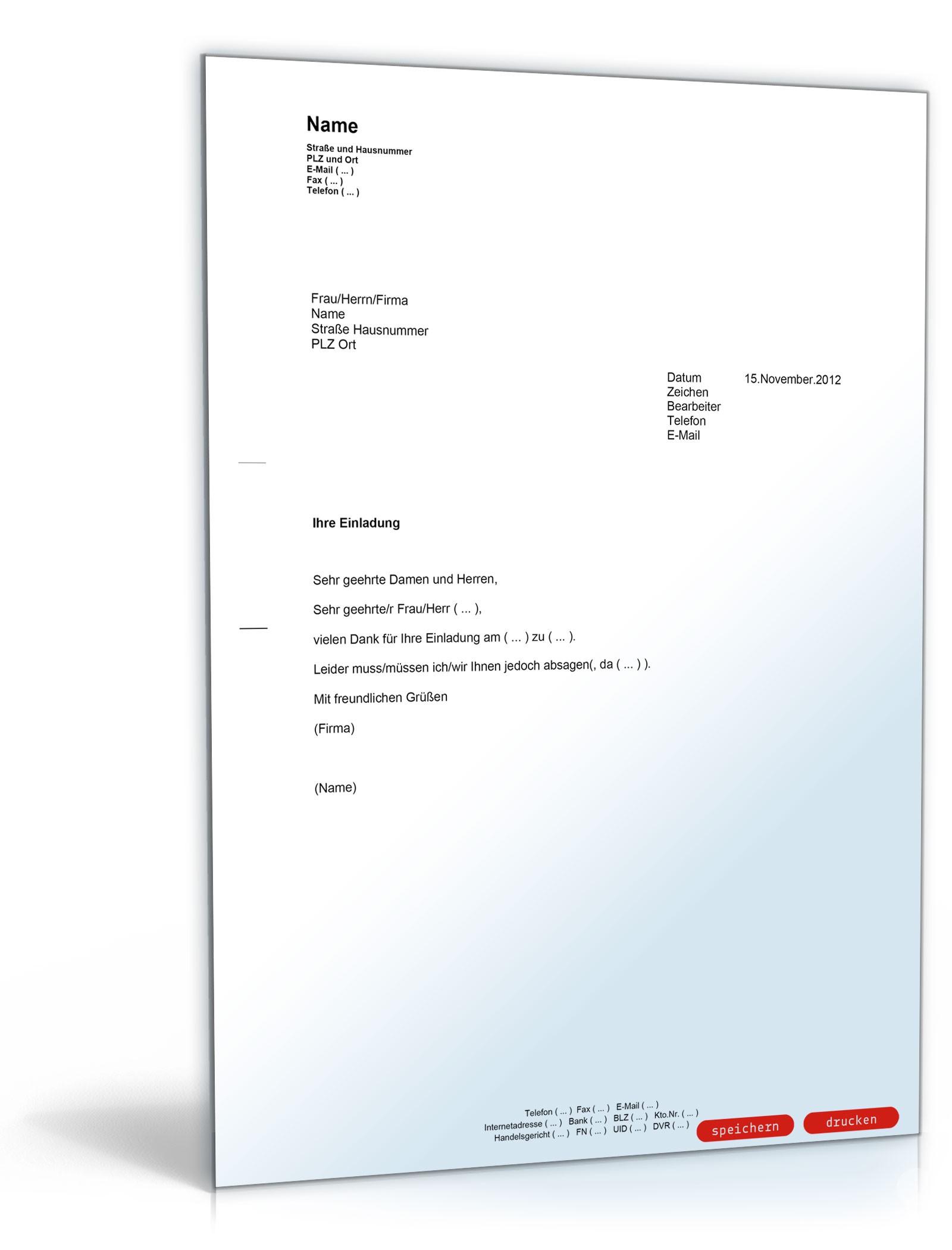 Geschäftsbrief Einladung – thegirlsroom