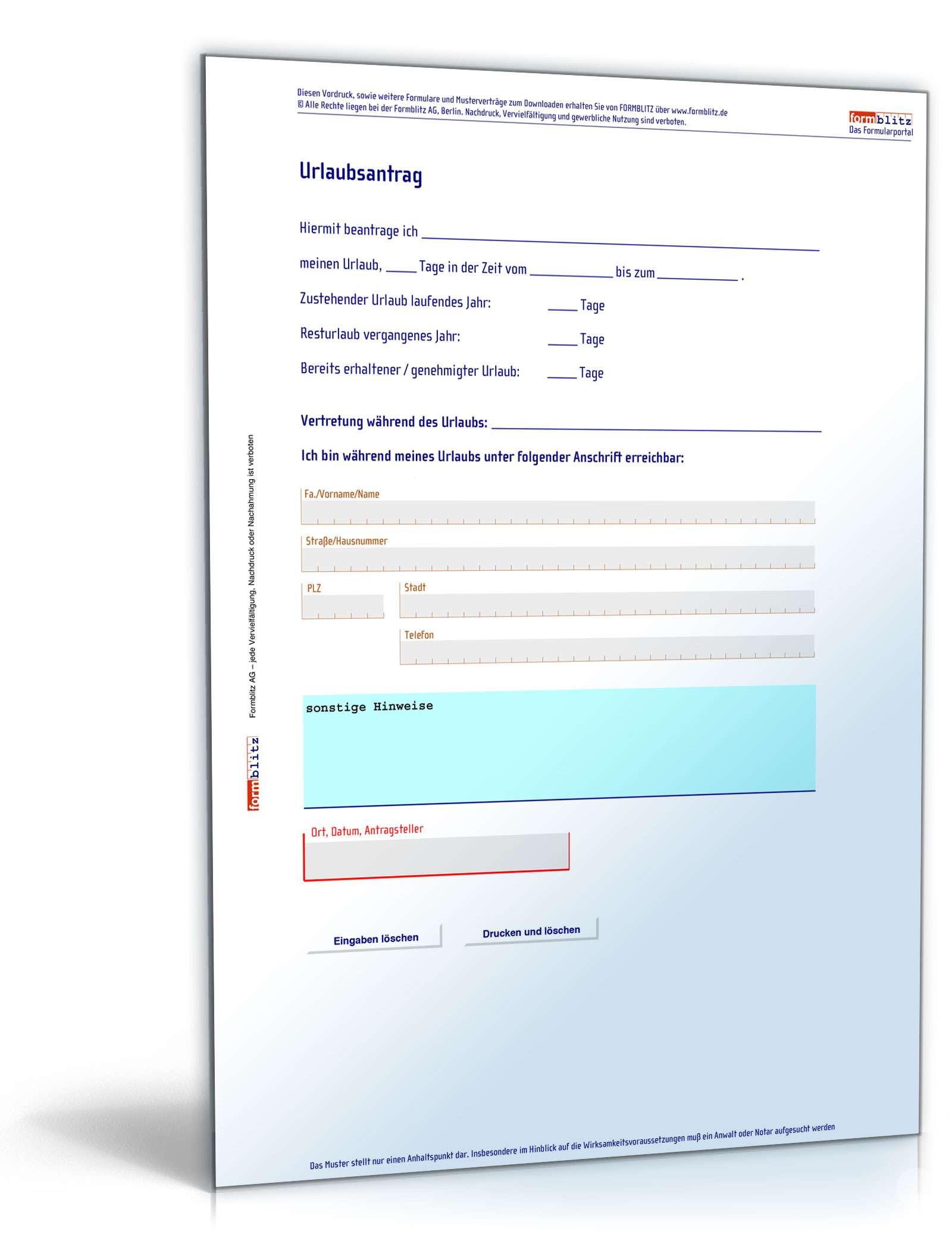 formblitz kostenlos download
