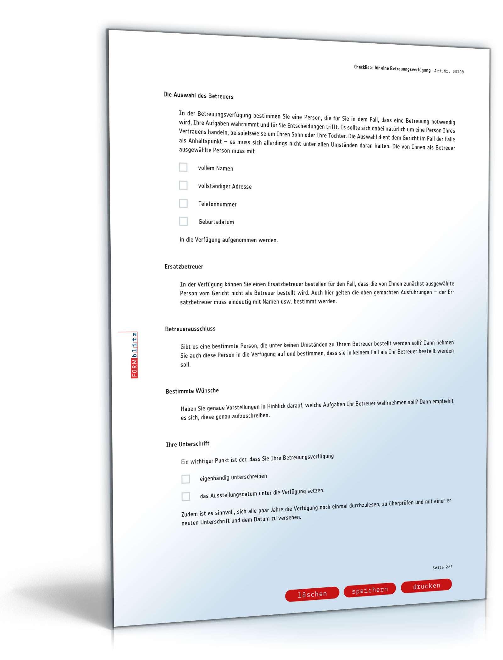 betreuungsverf gung checkliste zum download. Black Bedroom Furniture Sets. Home Design Ideas