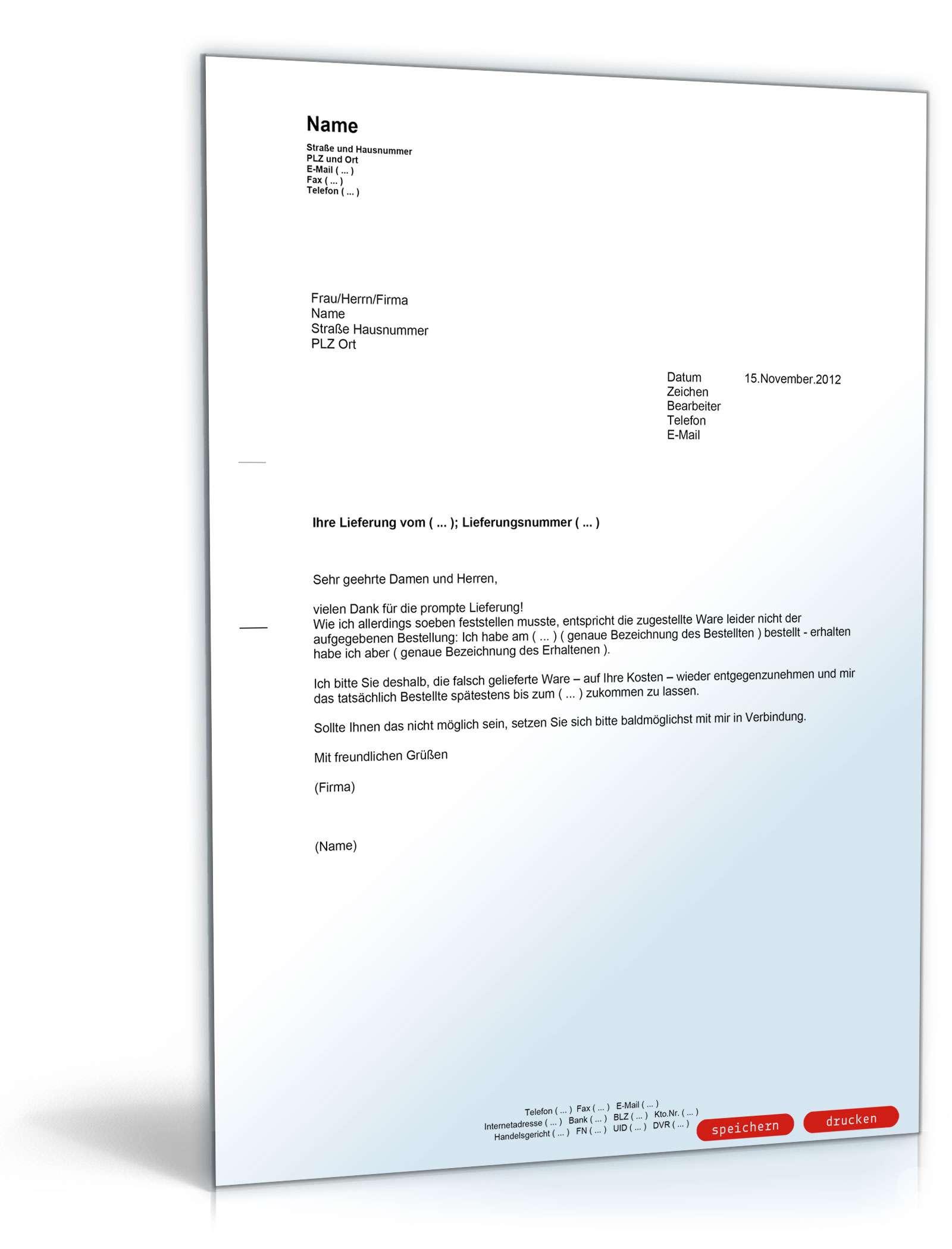 Reklamation Beschadigung Reisegepack Vorlage Zum Download 13
