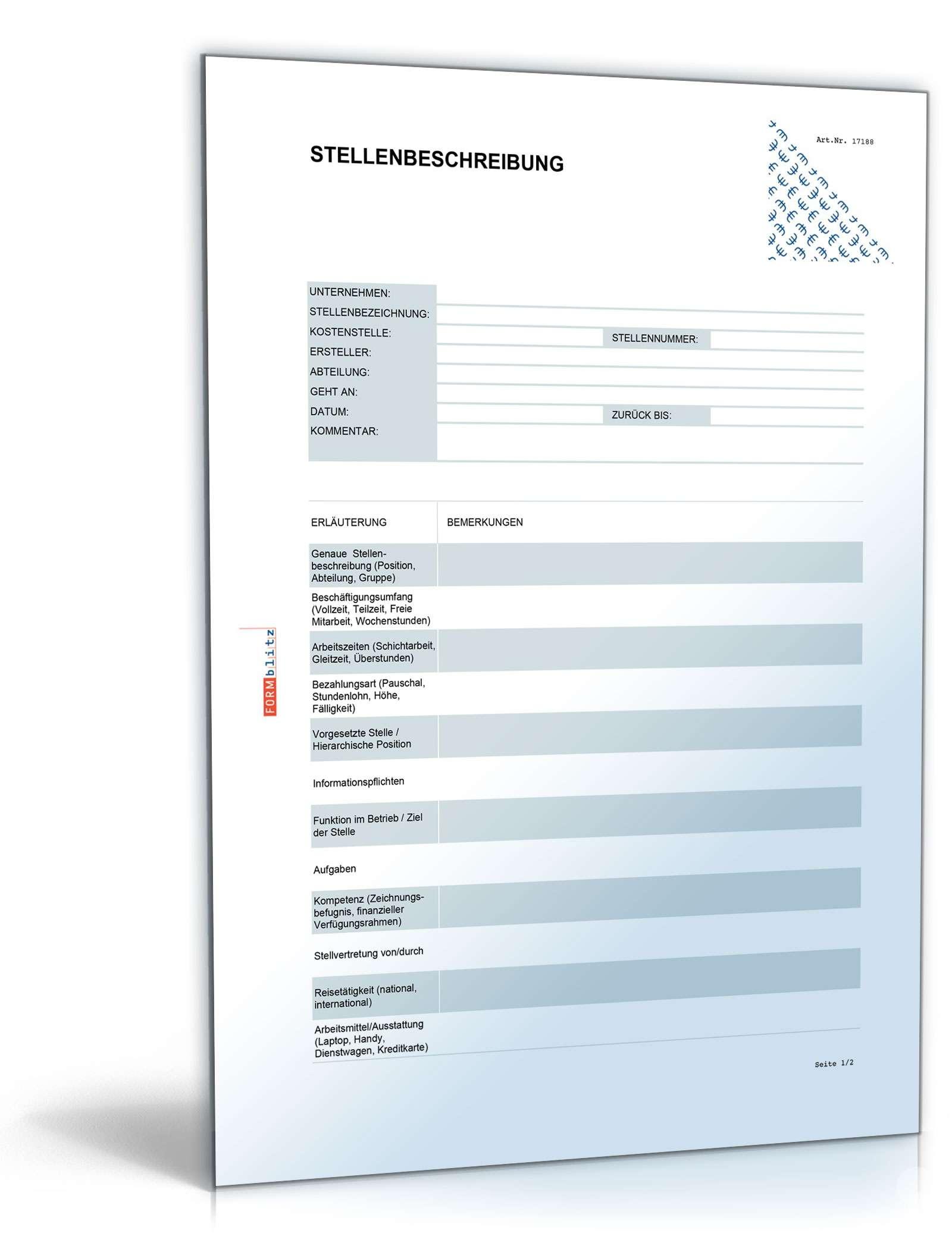Stellenbeschreibung Geschaftsfuhrer In Muster Zum Download 4