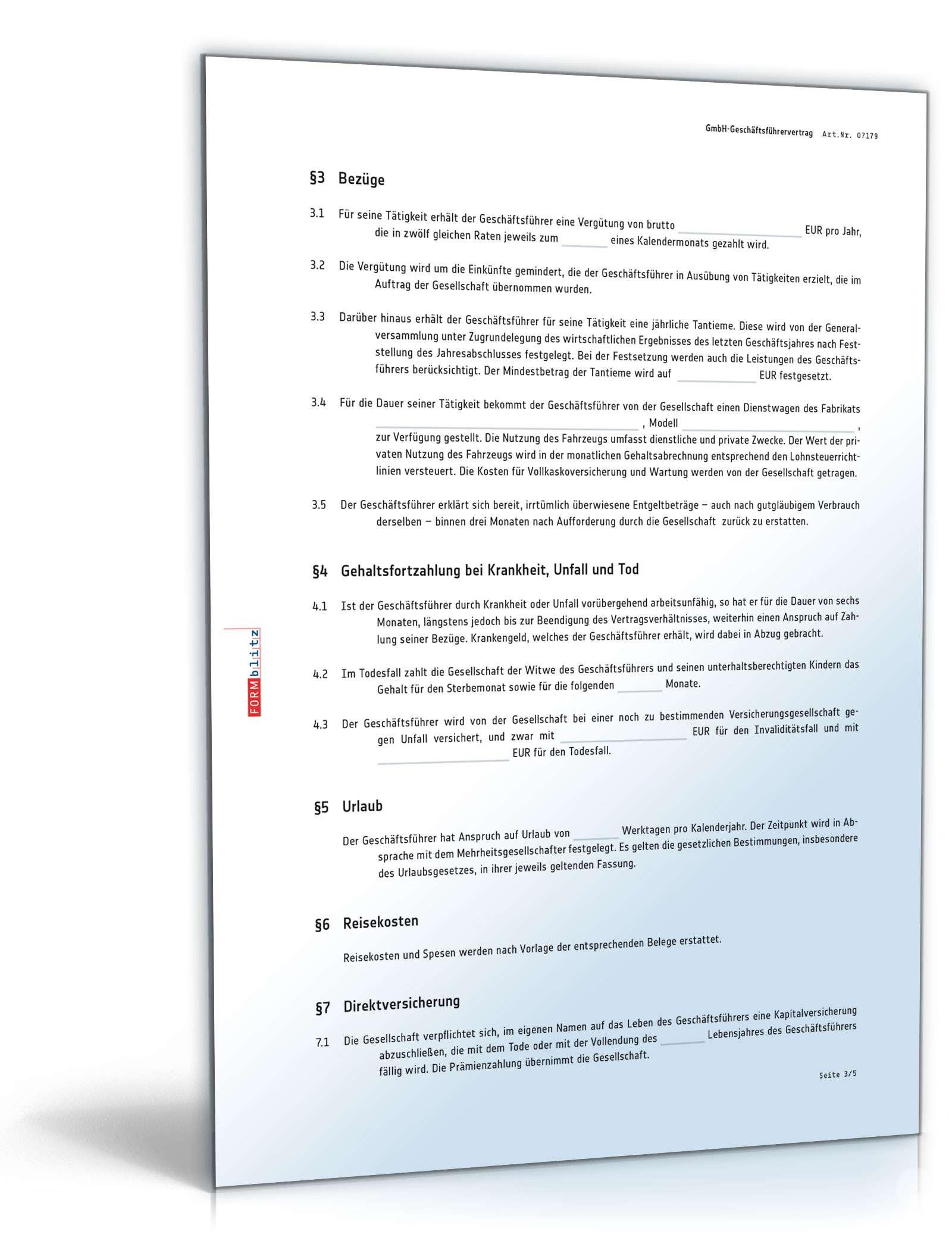 pdf seite 4 - Muster Geschaftsfuhrervertrag