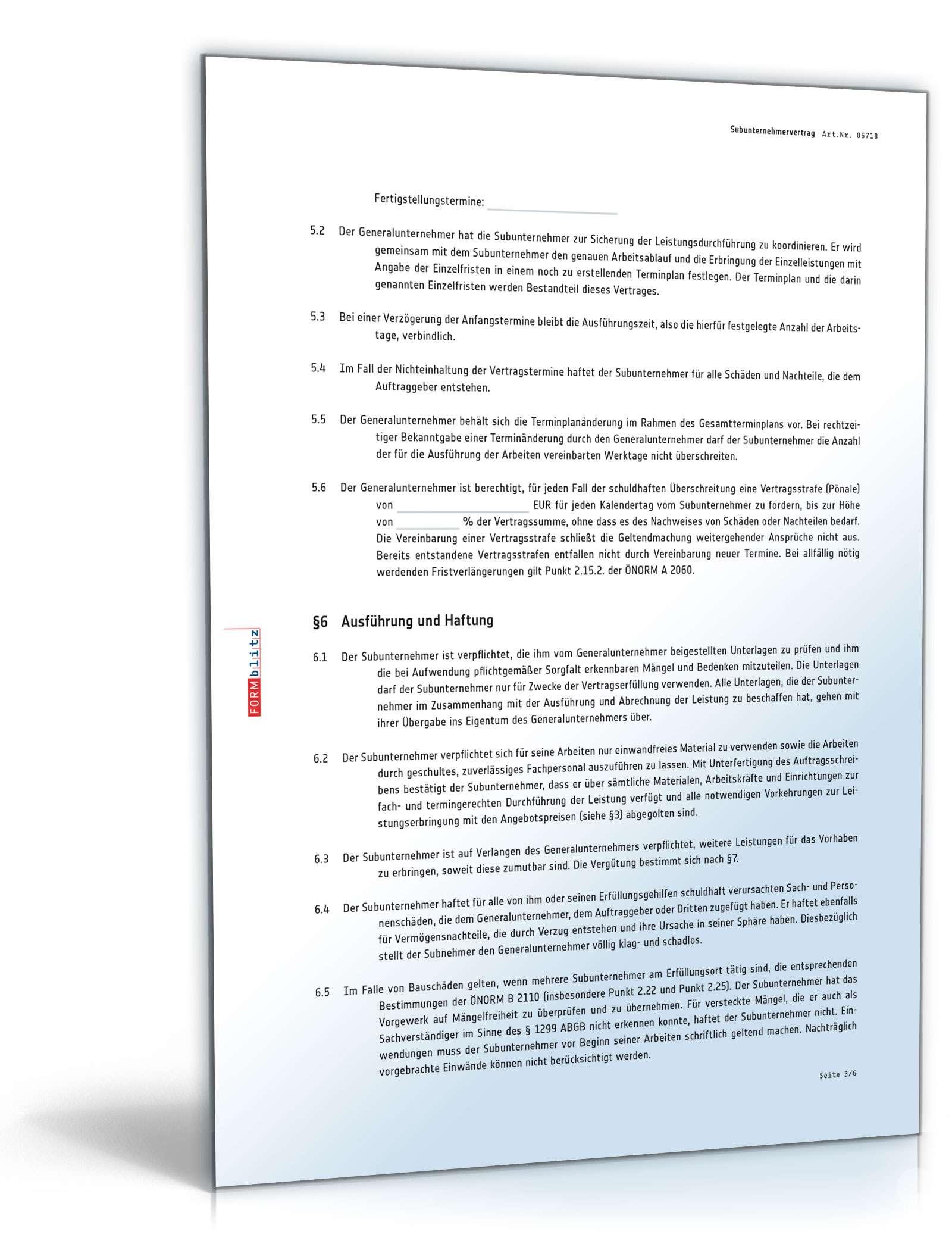 pdf seite 4 - Subunternehmervertrag Muster